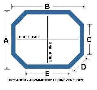 Octagon Asymmetrical (Uneven Sides)