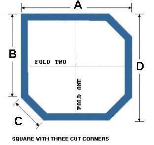Square with Three Cut Corners